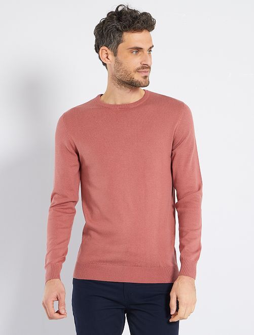 Pull léger col rond                                                                                                                                                                                                                 vieux rose