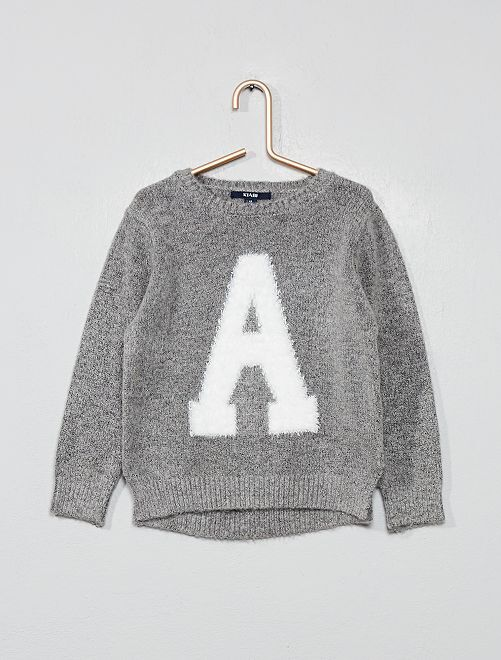 Pull lettre 'A'                     gris