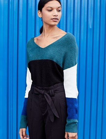 Pull loose color block