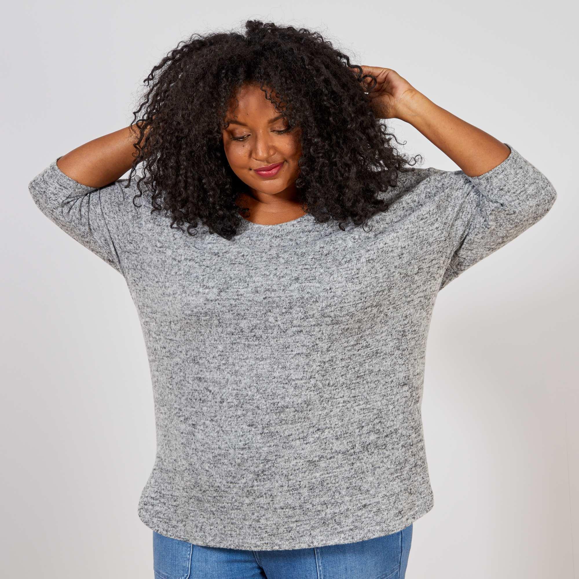 Couleur : gris, , ,, - Taille : 54/56, 46/48, 58/60,50/52,Une coupe loose ultra-confortable et agréable à porter vous allez craquer ! - Pull
