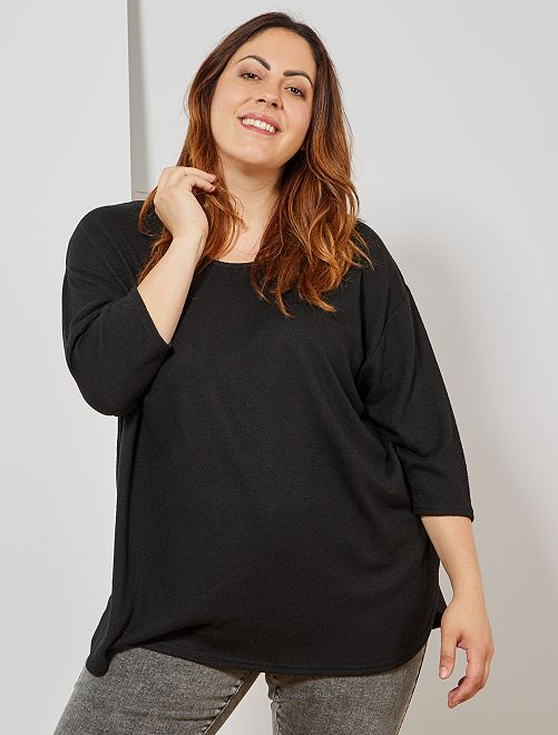 Pull loose maille chinée                                                                 noir