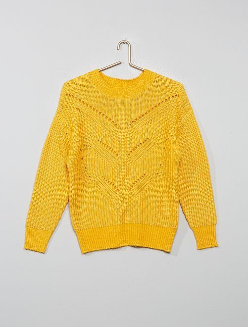 Pull maille ajourée                                                                                         JAUNE