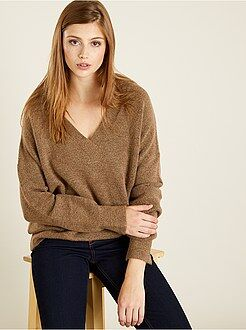 Pull - Pull maille col V - Kiabi