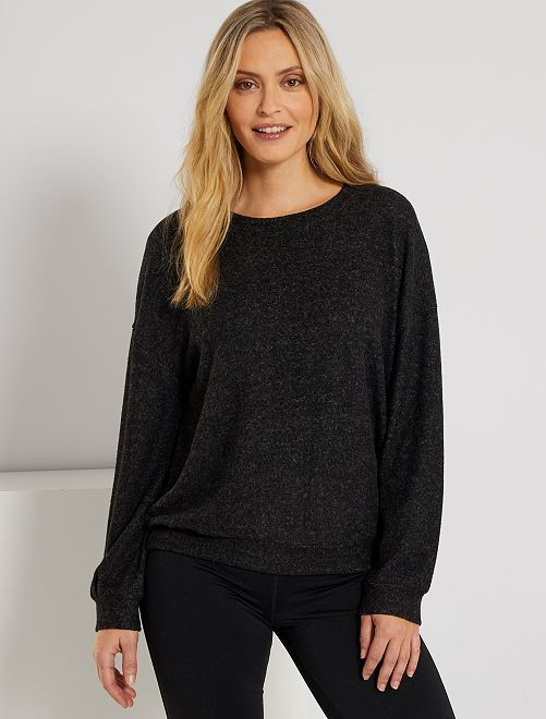 Pull maille douce                                         gris