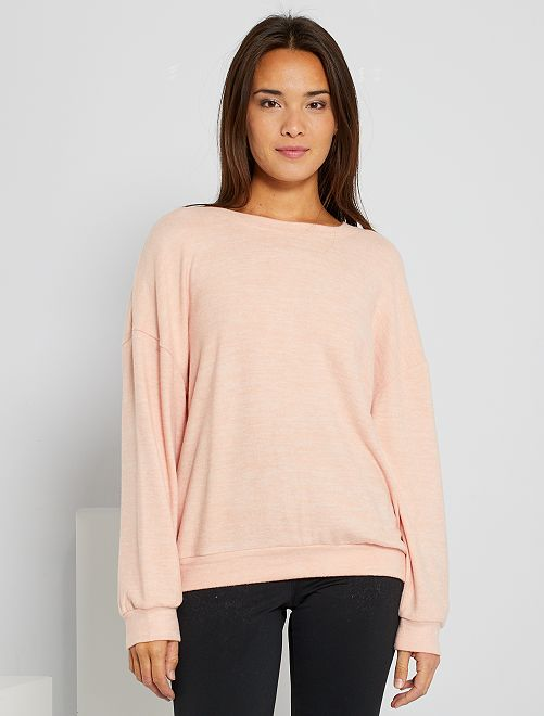 Pull maille douce                                         rose sablé
