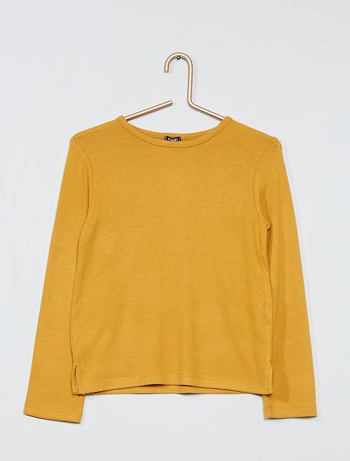 Pull maille doudou                                                                 jaune ocre