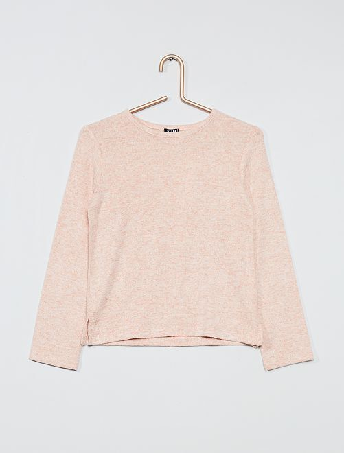Pull maille doudou                                                                 rose