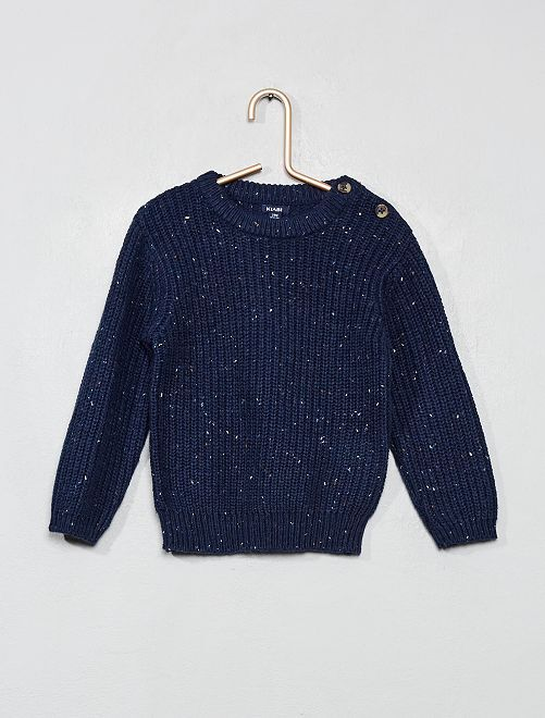Pull maille neps                                                     bleu
