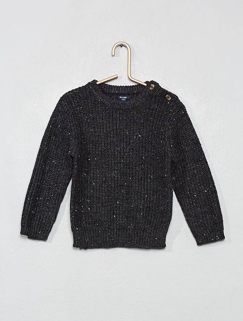 Pull maille neps                                                     gris