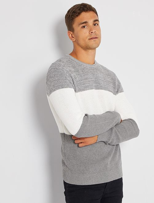 Pull maille perlée                                                     blanc