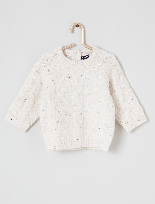 Pull maille tricot                                         écru