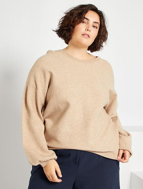 Pull manches ballons                                         beige