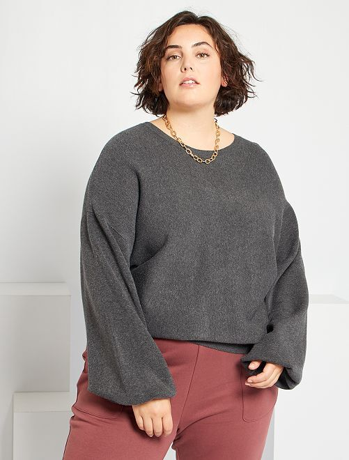 Pull manches ballons                                         gris