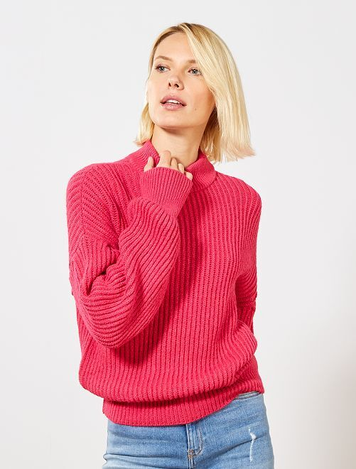 Pull manches larges chauves-souris                             fuchsia