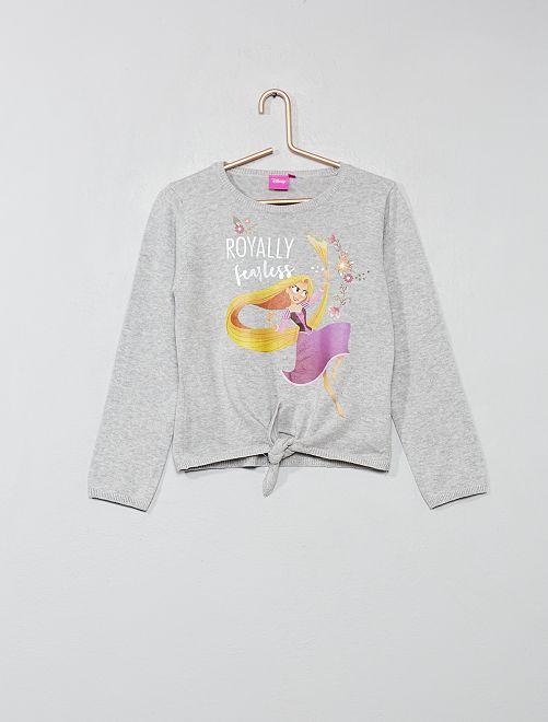 Pull noué 'Minnie'                                         GRIS Fille