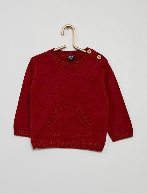 Pull poche fantaisie                                                     rouge