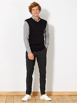 Pull, gilet - Pull sans manches maille fine