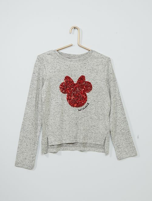 Pull sequins 'Minnie'                             gris