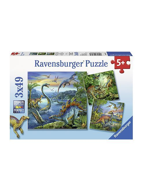 Puzzle 'Dinosaure' 'de 'Ravensburger'                             bleu Garçon