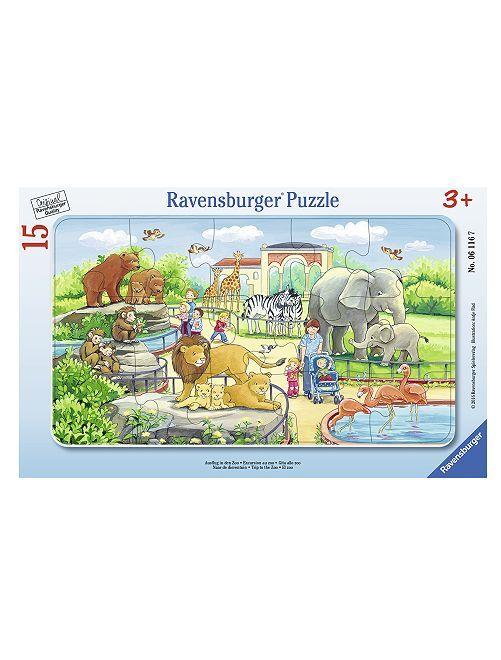Puzzle 'Excursion au zoo' de 'Ravensburger'                             bleu Fille