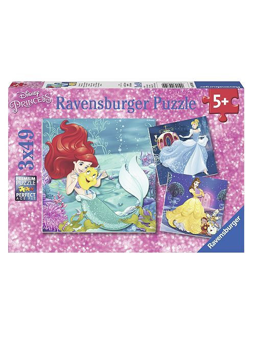 Puzzle 'Les princesses Disney' de 'Ravensburger'                             multicolore Fille