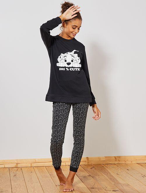 Pyjama '101 Dalmatiens'                                                                 noir