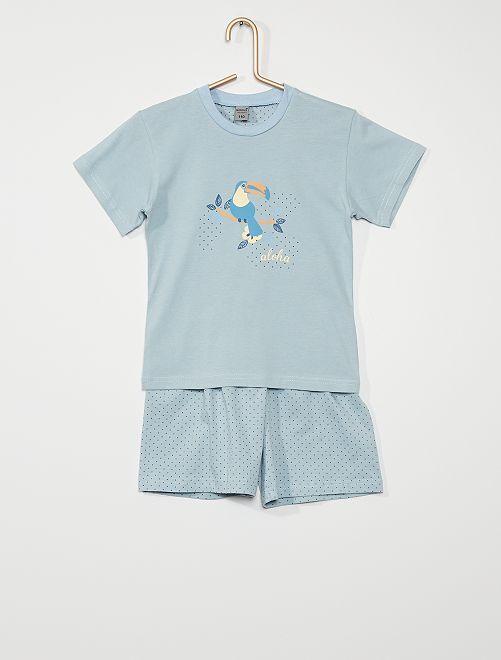 Pyjama 2 pièces 'aloha'                                         bleu