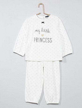 456ec6a92418d Fille 0-36 mois - Pyjama 2 pièces en velours - Kiabi