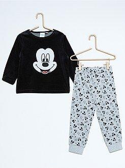 Pyjama 2 pièces en velours 'Mickey'