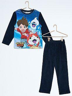 Pyjama, peignoir - Pyjama 2 pièces en velours 'Yo-Kai Watch'