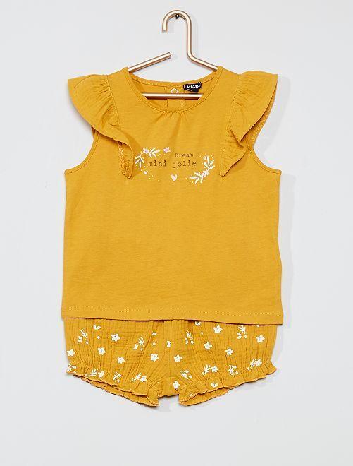 Pyjama 2 pièces                                         jaune