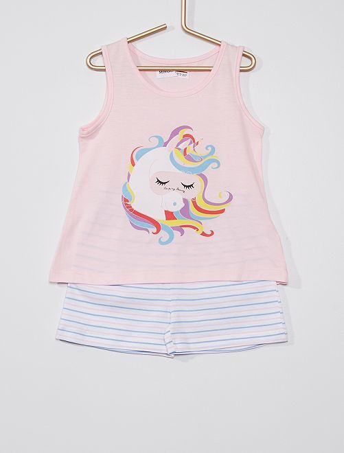 Pyjama 2 pièces 'licorne'                             rose