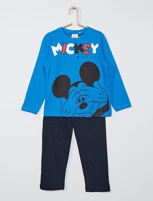 Pyjama 2 pièces 'Mickey'                                         bleu