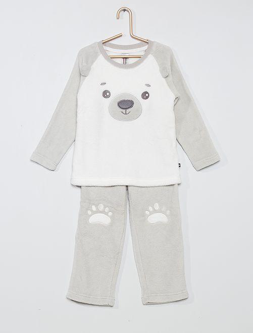 Pyjama 2 pièces 'ours'                                         écru/gris