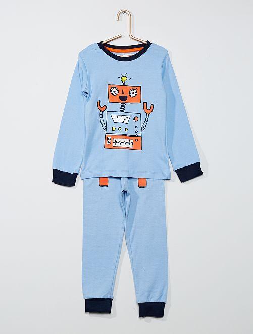 Pyjama 2 pièces robot                             bleu