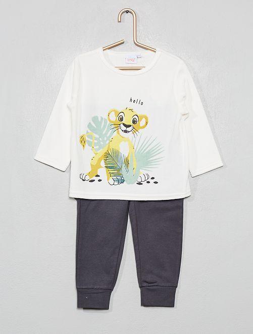 Pyjama 2 pièces 'Roi Lion'                             blanc