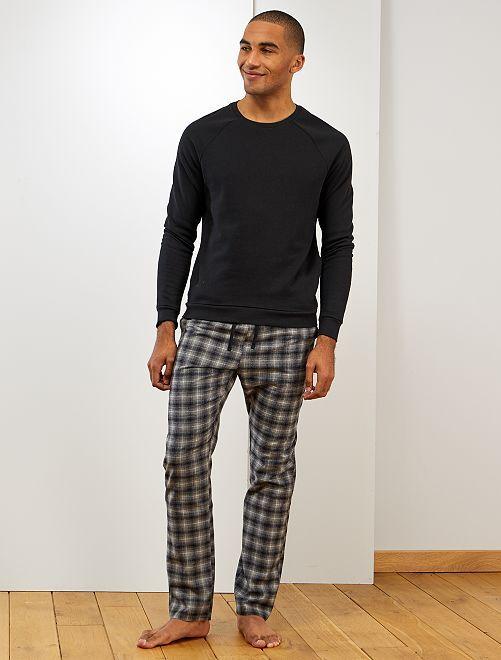Pyjama à carreaux                             noir