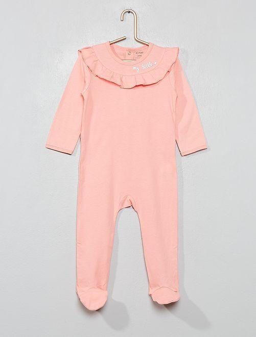 Pyjama 'zèbres' à volants                     rose