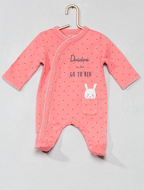 Pyjama animation 'lapin'                                         rose Bébé fille