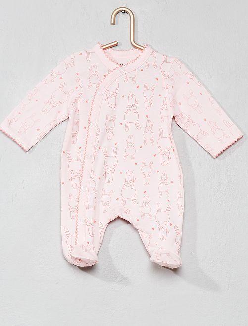 Pyjama animation 'lapin'                             rose pâle Bébé fille