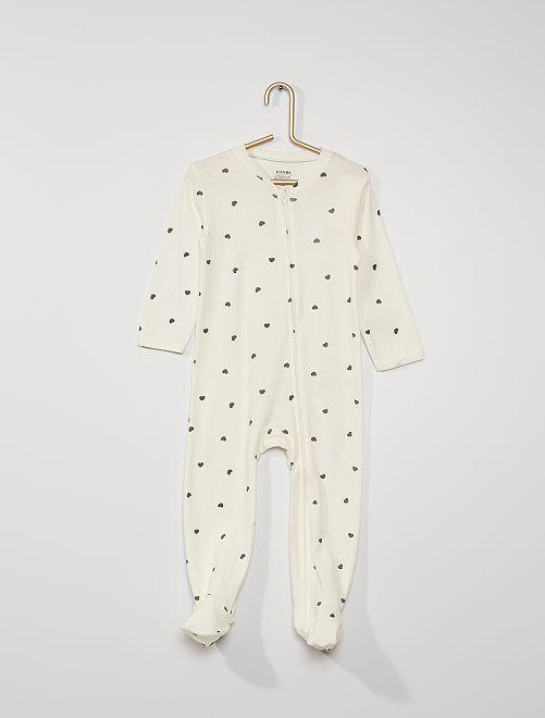 Pyjama avec pieds antidérapants                                                                 blanc