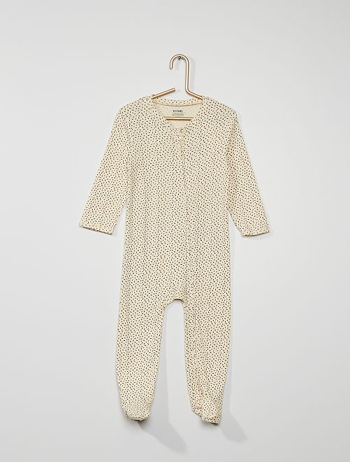Pyjama avec pieds antidérapants                                                                 écru