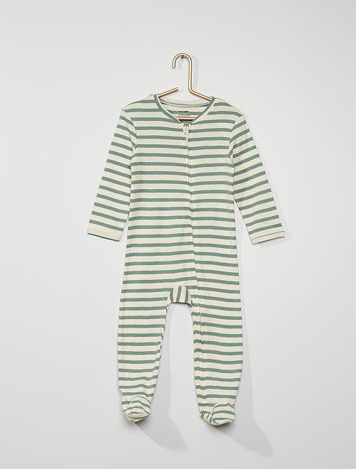Pyjama avec pieds antidérapants                                                                 vert