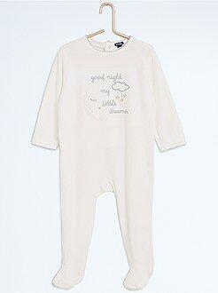 Fille 0-36 mois Pyjama avec pieds imprimé 'nuit'