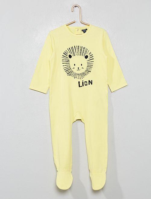Pyjama avec pieds                                                                             jaune/lion Bébé garçon