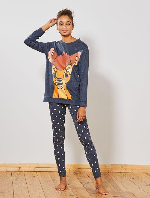 Pyjama 'Bambi'                                                                 bleu chiné