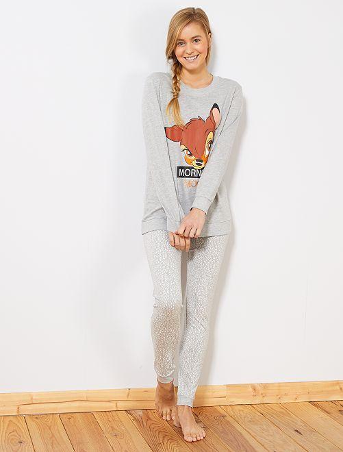 Pyjama 'Bambi'                                                                 gris clair chiné