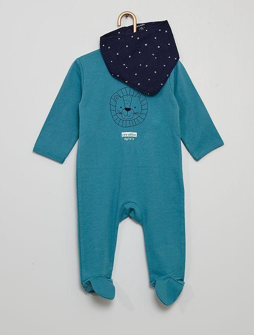 Pyjama + bandana                                                     bleu