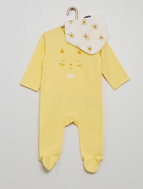 Pyjama + bandana                                                     jaune