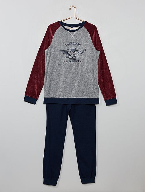 Pyjama bi-matière                     bleu